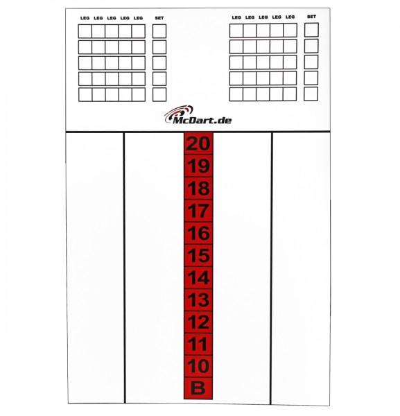 McDart Score Board 45 X 30 CM